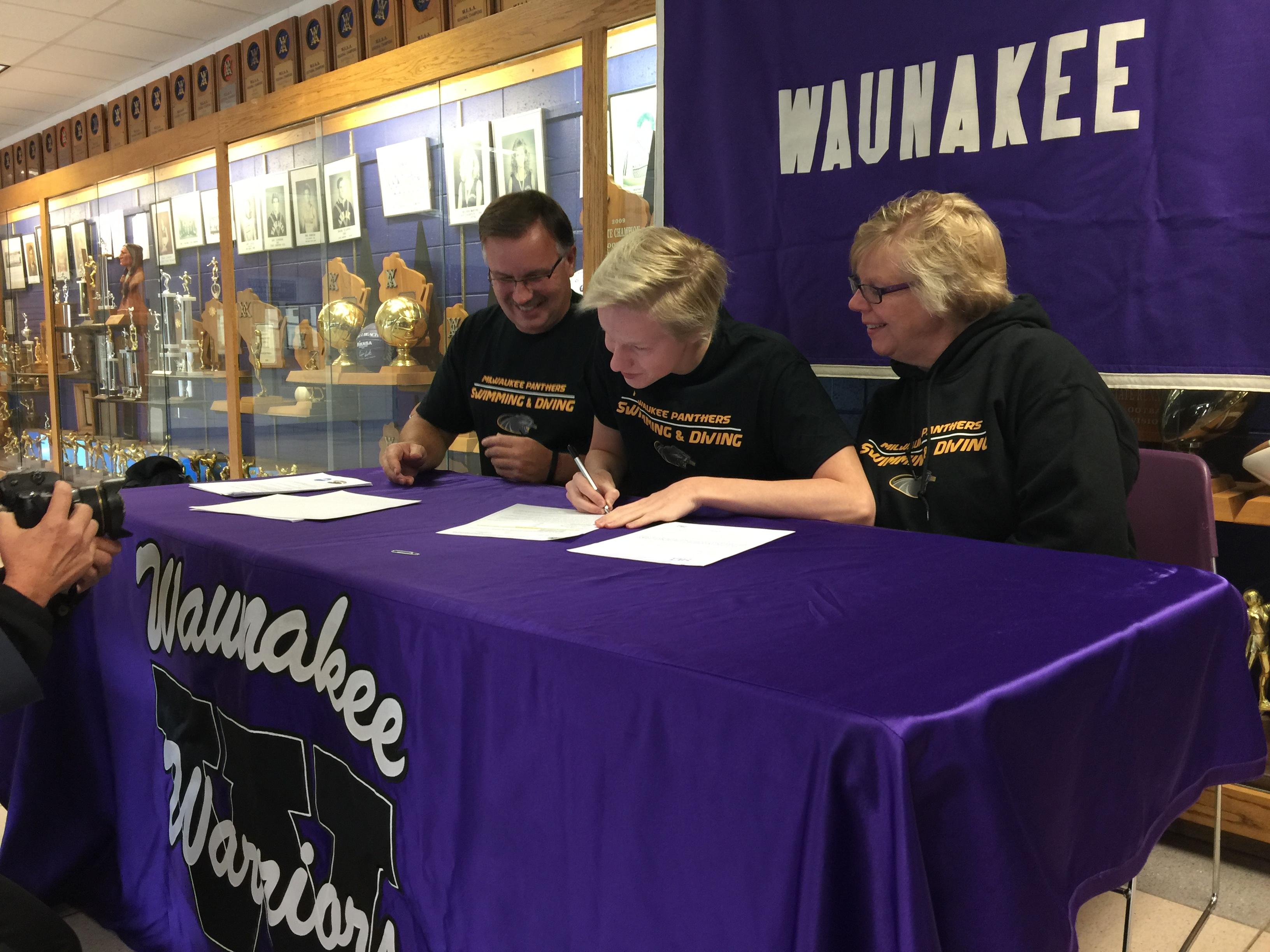 Senior Colin Duffy signed his letter of intent on November 9th. Duffy will be swimming for the University of Wisconsin-Milwaukee.