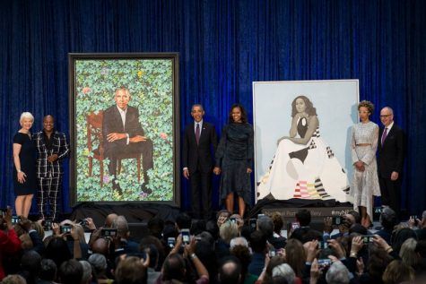 Obamas Honored in Presidential Portrait